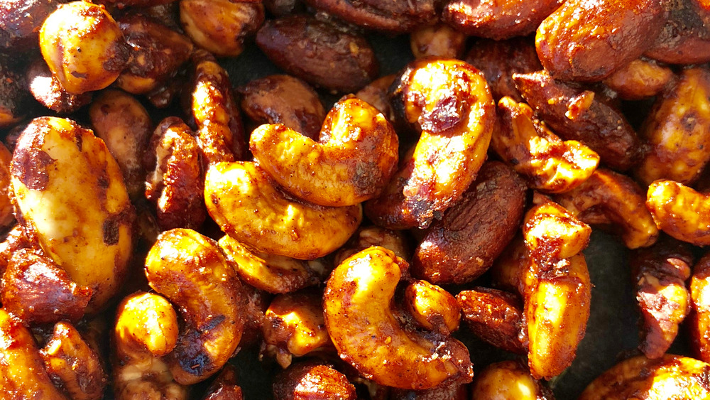 bowl of spiced mixed nuts