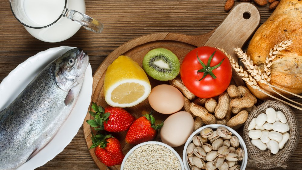 assortment of foods that can cause allergies
