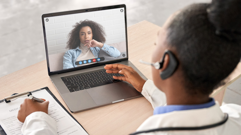 telehealth call with doctor